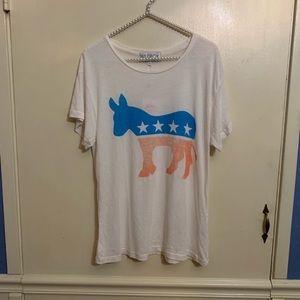 Wildfox Patriotic Donkey Democrat Graphic Tee XS